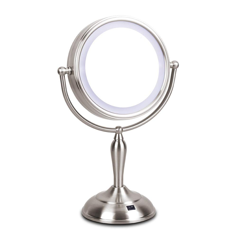 Led Makeup Mirror Lighted Vanity Mirror With 1x 10x