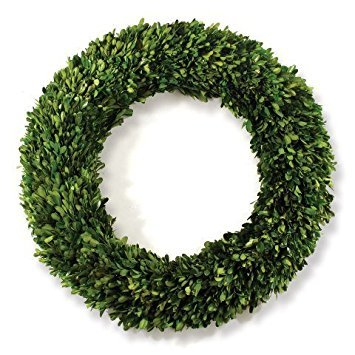(Wreath Faux Florals and Preserved Boxwood, 24-Inch)
