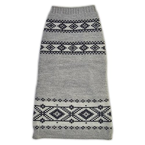 The Fair Isle Dog Sweater (XL, Grey/Navy) by World of Angus
