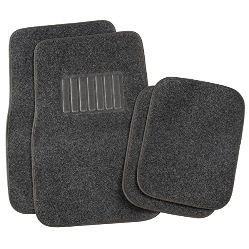 Super buy Universal 4PC Solid Carpet Mat Pad Car Truck SUV VAN Floor Mats Dark Gray