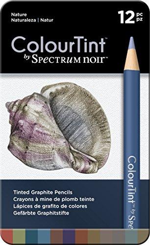 (Spectrum Noir SPECCT-NAT12 12 Piece Nature Artist Pencil Set, Multicolor)