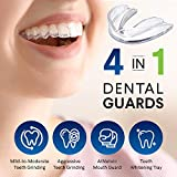 VieBeauti Professional Moldable Mouth Guard, Dental Night Guard for Grinding Teeth, 2 Sizes, 4 Pieces New Upgraded Night Dental for Teeth Grinding,Eliminates Bruxism & Teeth Clenching