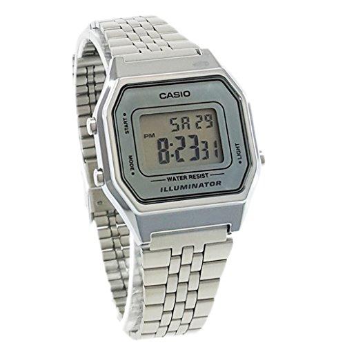 soltekonline reloj casio  dama de tono plateado medio modelo la wa df