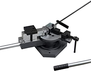 KAKA SBG-40 Heavy-Duty Universal Bender, High Capacity Flat Bar, Square Bar and Round Bar Metal Bender, Combination of Scroll, Radius and Angle Bending, High Precision Metal Bender