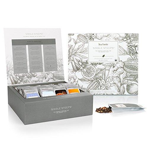Tea Forté SINGLE STEEPS Loose Leaf TEA CHEST, 28 Single Serve Pouches - Black Tea