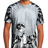 Yoga Clothing For You Mens 3 Wolf Moon Tie Dye Tee