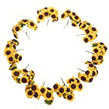 WINOMO 100pcs Sunflower Artificial Flower Bouquet Home Wedding Decoration