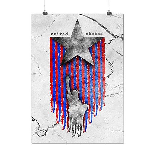 United States Star USA Matte/Glossy Poster A3 (42cm x 30cm) | Wellcoda (Land Twin Basketball)