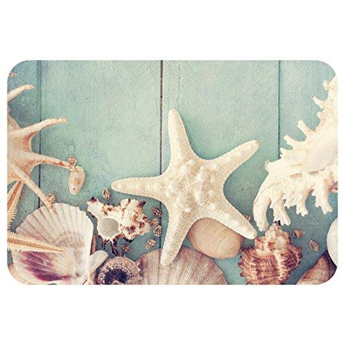 Starfish Doormat-Stylish Floor Mat Rug Indoor Bathroom Mats Rubber Non Slip (B) - Harley Davidson Bathroom Rugs