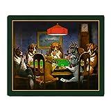 CafePress - Poker Dogs Friend (Green Border) - Soft Fleece Throw Blanket, 50''x60'' Stadium Blanket