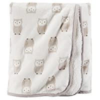 Carters Plush Blanket - Neutral Owl (Valboa with Microplush)