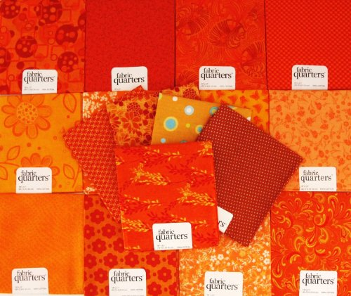 orange sewing fabric - 1