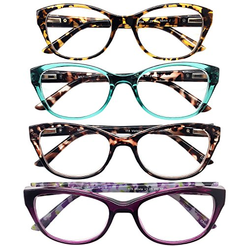 I.I.Image Women?s Plastic 4-Pack Reading Glasses (+1.25) (Lady Image)