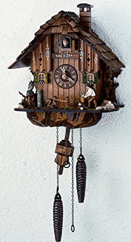 Quartz Black Forest House Handlaid Cuckoo Clock