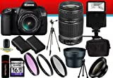 Canon EOS 60D 18 MP CMOS Digital SLR Camera w/ EF-S 18-55mm f/3.5-5.6 IS Lens and EF-S 55-250mm f/4.0-5.6 IS Telephoto Zoom Lens Wide Angle/Telephoto 16GB DavisMAX Bundle, Best Gadgets