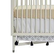 DwellStudio Zebra Embroidered Crib Skirt