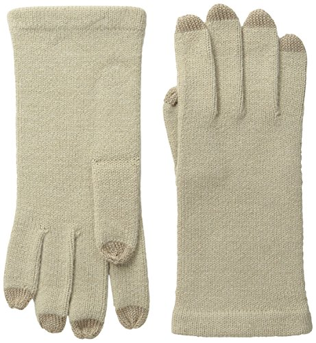 Echo Women's Knit Glove with Touchscreen Tips, Oatmeal, One Size (Echo Touch Gloves)