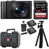 Panasonic LUMIX DMC-LX10K Camera 128GB Extreme PRO Weatherproof Hard Case Bundle
