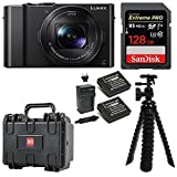 Cheap Panasonic LUMIX DMC-LX10K Camera 128GB Extreme PRO Weatherproof Hard Case Bundle