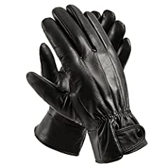 You' ll fall in love with these Genuine Leather Driving Gloves Gloves Material: soft sheep fight skin, soft and comfortable, fleece lining. Comfortable to wear, so that you are driving, travel, outdoor sports, keep warm hands Glove size is to...