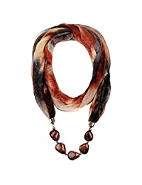 LERDU Gift Idea Infinity Scarf Necklace Jewelry Accessory for Women Brown