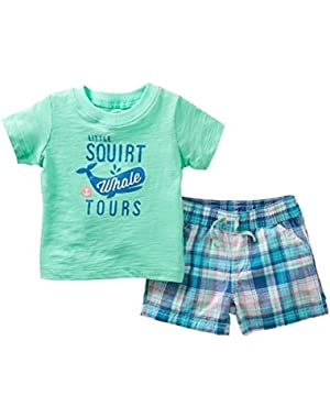 Baby Boys' 2 Piece Bodysuit Set Newborn
