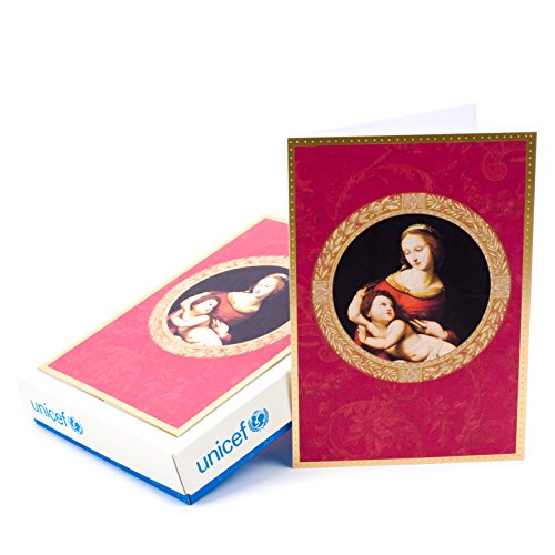 Hallmark UNICEF Christmas Boxed Cards, Madonna and Child (16 Christmas Cards and 17 Envelopes)