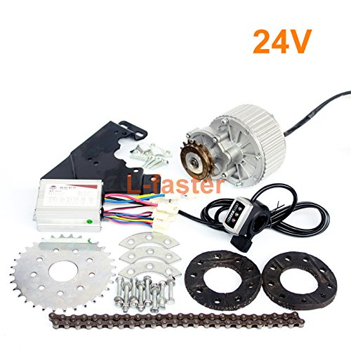 L-faster 450W Newest Electric Bike Left Drive Conversion Kit Can Fit Most of Common Bicycle Use Spoke Sprocket Chain Drive for City Bike(24V Thumb Kit)