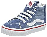 Vans Toddler T SK8 Hi Zip Denim 2 Tone Blue True White Size 8.5