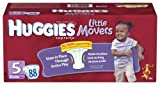 Huggies Little Movers Diapers, Size 5, 88-Count