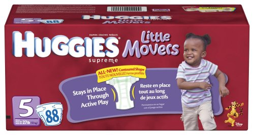 Huggies Little Movers Diapers, Size 5, 88-Count by HUGGIES