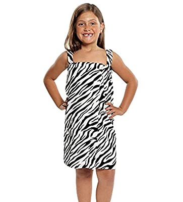 TowelBathrobe Kid's Terry Velour Zebra Body Wrap Towel