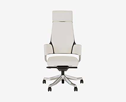 Delphi Leather Desk Chair White By Scandinavian Designs