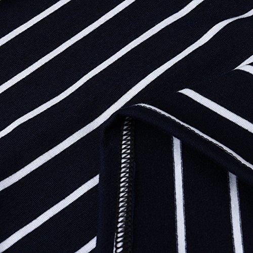 maternit Casual di Elastico Manica Topgrowth Incinta Righe Donne T Shirt Camicia Premaman Maglietta Corta a 64OOtTwqn