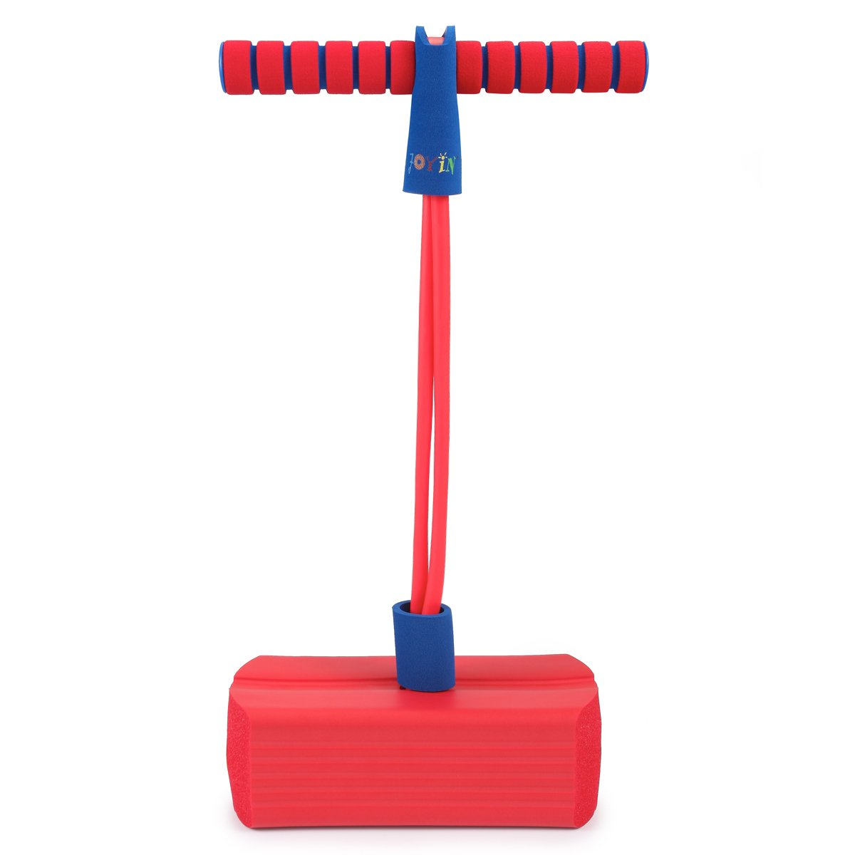Joyin Toy Foam Pogo Jumper Safe and Fun Play, All sizes, 250 Pound Capacity (red)