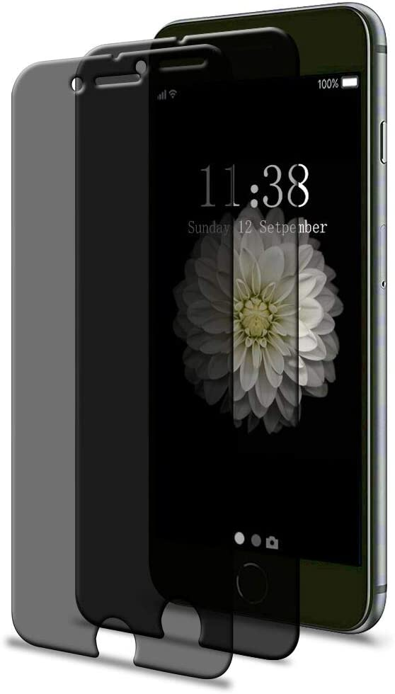 "[2 Pack] iPhone 6 6s 7 8 Privacy Screen Protector, GPROVA [Anti Spy][Anti-Glare][Anti-Fingerprint][Anti-Scratch] No Bubble Ballistic Tempered Glass HD 2.5D Curve Edge Screen Protector 4.7"""