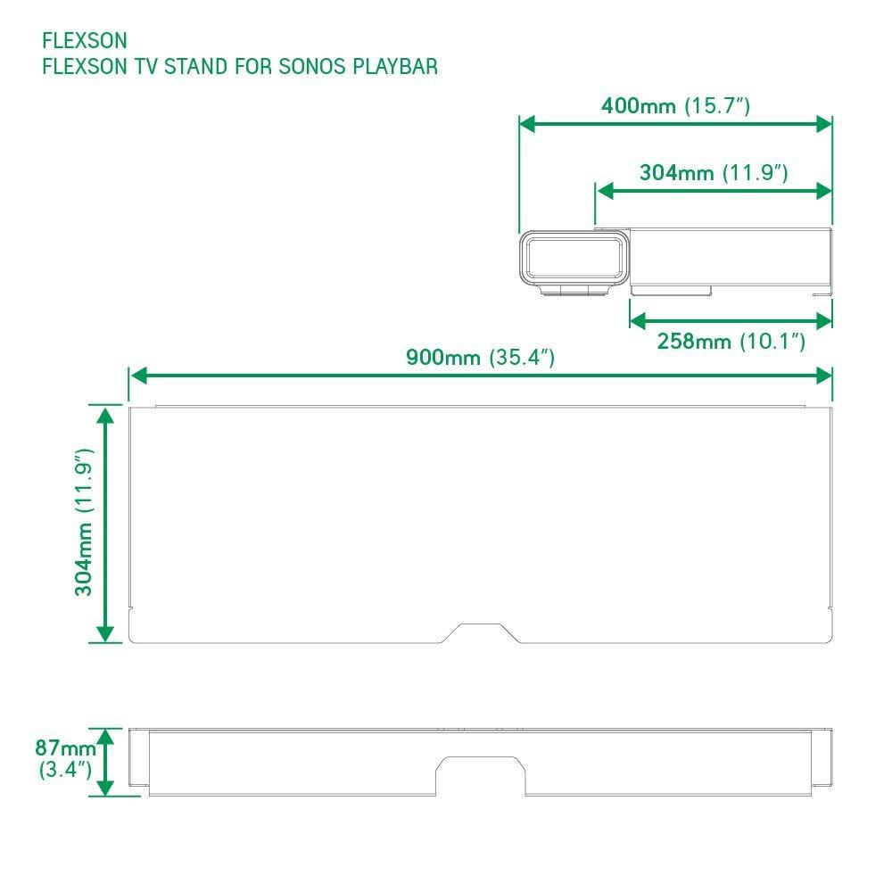 Flexson Stand for Sonos Playbar TV - Black: Amazon.co.uk: TV