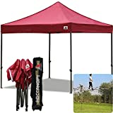 ABCCANOPY (18+Colors Commercial 10X10 FT Outdoor Pop Up Portable Shelter Instant Folding Canopy Tent (BURGUDNY)