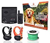 Pet Control HQ Wireless Electric Dog Fence & Remote Dog Training System, 2 Waterproof & Rechargeable Shock Collar, Customizable Above...