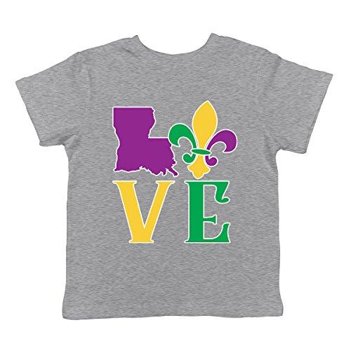 SpiritForged Apparel Love Louisiana Mardi Gras Infant T-Shirt, Light Gray 12 Months