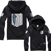 Splendid-Dream Unisex Long sleeve Attack on Titan Full Zip Hooded Sweatshirt