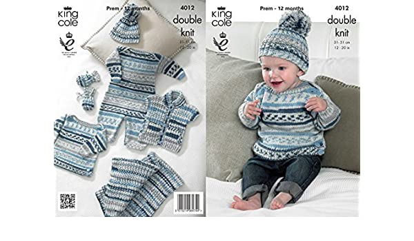 5a296f7399cf King Cole 4012 Knitting Pattern Baby Set to knit in King Cole ...