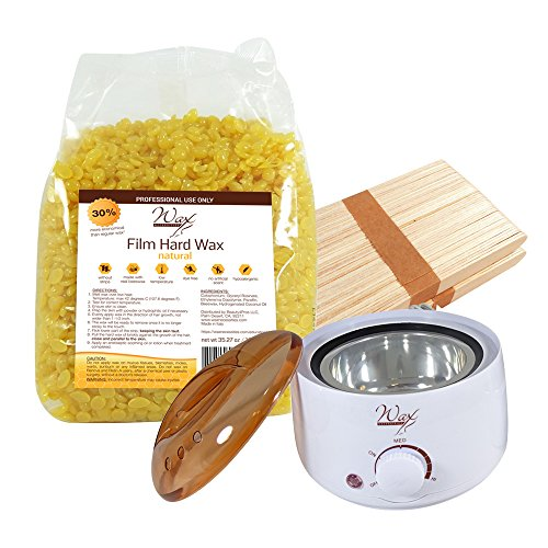 Wax-Necessities-Natural-Stripless-Waxing-Kit-with-3527-oz-1-kg-Wax-Bag