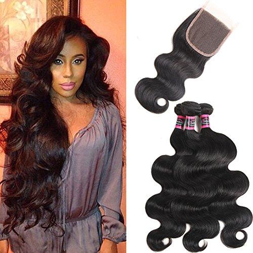 Urbeauty Hair 3 Bundles With Closure 8a Grade Virgin