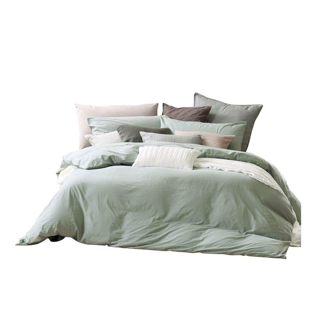 ダブルベッドカバー - 4つのコットンソリッドカラードミトリーの寝具セット (サイズ さいず : 6FT) B07G5YK91S  6FT