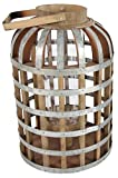 "A&B Home Large Wood and Metal Shanghai Lantern, 11.5"" x 11.5"" x 22.5"""
