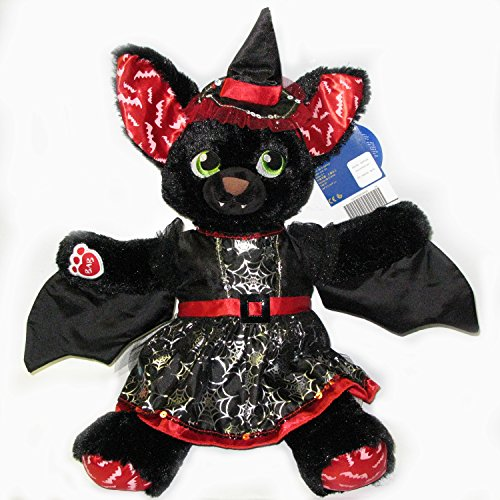 Build A Bear Boo-rrific Bat Halloween Plush in Witch Costume and Hat Retired Halloween Witch Bear