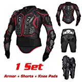 FOUR CLOVER Motorcycle Full Body Armor Protector Pro Street Motocross ATV Titan Sport Jacket Shirt XXXL + Pants Hockey Knight Gear