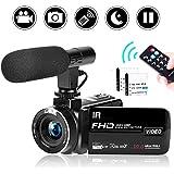 ビデオカメラ ハンディーカム デジタルカメラ FHD 2.7K 30FPS 30MP 16倍デジタルズーム タイムラプス スローモーション 3インチタッチパネル カムコーダー ブログカメラ 夜間カメラ 日本語メニュー説明書