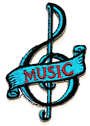 Nipitshop Patches Blue Musical Notation Music Note